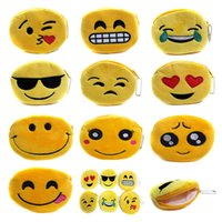Wholesale Wholesale Womens Bags Purses - New Hot QQ Expression Coin Purses Cute Emoji Coin Bags Plush Pendant Womens Girls Creative Chirstmas Gifts High Quality K1199