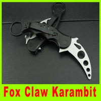 Wholesale knife fighting - Camping knife Fox Claw Karambit Training Folding blade knife Hunting Fighting Knives cutting knife best christmas gift 656L
