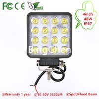 4.5 pollici 48W Car LED Work Light per moto Tractor Boat Off Road 4WD 4x4 Camion SUV ATV Spot Flood 12 v 24 v