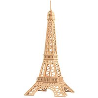 Wholesale Eiffel Tower 3d Puzzle Wood - 3D wooden jigsaw puzzle for kids educational intelligence toy popular DIY Eiffel Tower simulation building model wooden puzzle birthday gift