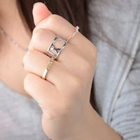 Wholesale Women Finger Tip Ring - Hot Selling Chic Mid Midi Plain Above Knuckle Ring Roman numerals Band Gold Silver Tip Finger Stacking Rings For Women Jewelry [JR15133*12]