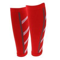ingrosso maniche di braccio di basket blu-All'ingrosso- Unisex Running Athletics Compression Sleeves Calf Leg Brace Wrap Shin Splints