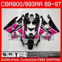Wholesale fairing cbr893 92 for sale - Group buy CBR RR For HONDA CBR900RR Rose Pink CBR893RR NO24 CBR893 RR Fairing