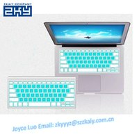 Wholesale Macbook Pro Keyboard Cover White - Wholesale-Waterproof Blue And White Color Silicone Keyboard Cover Protector Skin for US Apple Macbook Pro 13 15 17