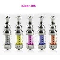 Wholesale I Clear - 2015 I Clear 30S 3.0ml Atomizer Clearomizer No Burning Taste Wholesale iClear 30S Replaceable Dual Coil iClear 30S IC 30S Tank DHL