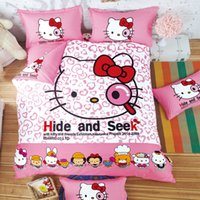 Wholesale Minnie Mouse Bedding Full - Wholesale- Bedclothes Baby children kids bed linen Queen twin Single bed Duvet cover set Kids Minnie Mouse