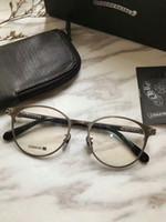 titan brillen rahmen für frauen großhandel-chrom Reintitan brillengestell klare linse herren brillen myopie brillen Retro oculos de grau männer und frauen brillen frames
