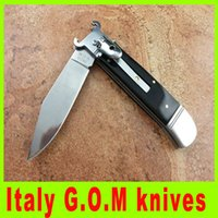 blade puller - High quality Italy G O M inch shell puller knife side open knife antler handle collection AKC EDC pocket knives L