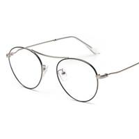 Wholesale Cool Reading Glasses - Wholesale- mimiyou Oval Cool Pilot Eyewear Retro Plain Women Men Computer Reading Glasses Frame Myopia Eyeglasses Brand Design gafas oculos