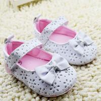 Wholesale Cute Korean Products - 2015 New products newborn shoes cute bowknot infant princess shoe korean sweet style flowers paillette baby girls prewalker 0-1age ab1133