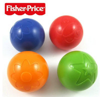 Wholesale Fisher Price Infant Boys Girls Plastic Hand Grab Ball Kids Baby Colorful Development Bouncy Ball High Quality Europe Children Toys H2465