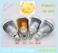 Wholesale cree e27 dimmable ball - High power Cree W W W Dimmable Led globe Bulb E27 GU10 B22 V LED Bubble ball lamp led light spotlight