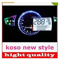 Speedometer speedo free shipping - KOSO RX1N style1100RPM LED digital speedo speedometer for motorcycle Instruments quot quot top sale latest bust buy off new