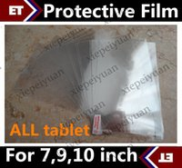 Wholesale 15 Inch Screen Wholesale - CH 10PCS Ultra Clear Screen Protector Guard for Allwinner A23 A33 A31S Q88 MTK6572 7 inch 9 inch 10.1 inch kid Tablet JF1