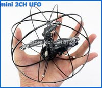 Wholesale Ufo Rc Controlled - Free Shipping New Arriival ! 2 Channel With Gyro RC Remote Radio Control Frlying Fly Ball Helicopter UFO Radio Quad copter Drone