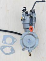 Wholesale Carburetor Generator - propane LPG NG conversion kit for gasoline generator hybrid 5KW 5000W 188F carburetor dual fuel with manual choke