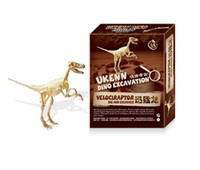 Wholesale assemble toys tools for sale - Group buy DIY Dinosaur Fossil Excavation Toys Manual Creative Archaeology Science And Discovery Gift Assembled Model Museum Teaching Tools