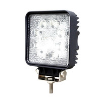 24W 8-LED Light Square travail LED OffRoad SUV ATV 4WD 4x4 spot Poutre IP67 12V / 24V pour Jeep Truck Driving expédition de baisse