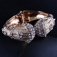 Wholesale Special Order Bracelets - Wholesale-New design special rhinestone Bangle&Bracelet for Women 2 Colours Ni  Pb free, Mix order is accepted
