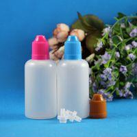 Wholesale Eye Drop Bottle Ml - Lot 100 Sets 50ml Plastic CHILD PROOF childproof Safe Dropper Bottles LDPE Liquids EYE DROPS E CIG Juice Vaper OIL 50 ml