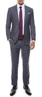 harris tıraş ince sığdır ceketi toptan satış-Milano Erkek Gri Slim Fit Damat Smokin 2016 Yeni Groomsmen Erkek Düğün Balo Custom Made (Ceket + Pantolon + Kravat + Yelek) Custom Made