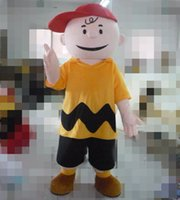 Wholesale Charlie Brown Mascot - SX0731 an adult Cartoon costume Charlie Brown mascot costume with a hat for adult to wear