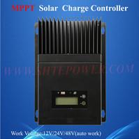 ingrosso controller di carica solare 48v mppt-controllo mppt 60a ce rohs regolatore di carica solare 12 v 24 v 48 v tensione di lavoro automatico con lcd