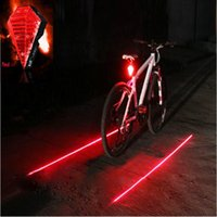 diamants de vélo achat en gros de-Tail Hight Quality Bicycle style Diamond Light 8 LED + 2 Laserbeam Rechargeable Etanche Lumière lb
