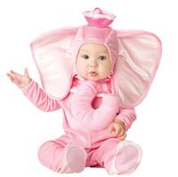 yetiştirilen elbise toptan satış-Güzel Hayvan Cadılar Bayramı Kıyafet Bebek için büyümek Bebek Erkek Kız Bebek Fantezi Elbise Cosplay Kostüm Maymun / Pembe Fil / Aslan