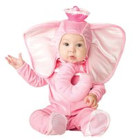 Lovely Animal Halloween Outfit per bambino crescere Neonati maschi Ragazze Baby Fancy Dress Costume Cosplay Monkey / Pink Elephant / Lion