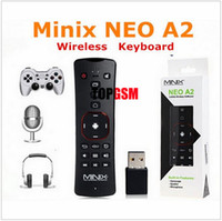 Wholesale Neo X7 Box - MINIX NEO A2 2.4G Wireless Voice Air Mouse Keyboard Remote Control for PC Notebook Smart TV Box X7 X8 Plus X8H Plus X5 X5 mini