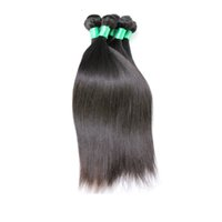 Wholesale 6a unprocessed weave for sale - 6A Brazilian Virgin Hair Straight Weft Hair Weave Extensions Full Head Natural Color Dyeable Bleachable Unprocessed Human Remy Hair pc