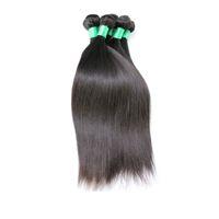 brazilian bakire remy insan saçı atkısı toptan satış-6A Brezilyalı Bakire Saç Düz Atkı Saç Örgü Uzantıları Tam Kafa Doğal Renk Boyanabilir Ağartılabilir İşlenmemiş 100% İnsan Remy Saç 1 adet