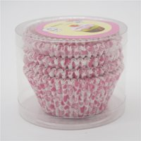 Wholesale Love Cupcake Wrappers - Pink Love Paper Cake Cups Cupcake Liners Wrapper Cases Baking Muffin Dessert DIY Wedding Party Decorations