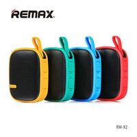 Wholesale Hd Audio Ports - REMAX RM-X2 Bluetooth Pocket Speaker Big Sound Portable Outdoor Speaker FM radio TF port HD Music with MIC for Mobilephone