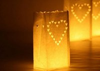 Wholesale Small Paper Lanterns Wholesale - Wedding Candle White Paper Bag Flame Proof Safe Lantern Outdoor Garden