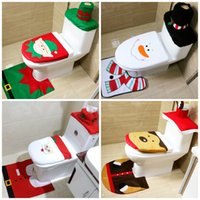 Wholesale cushion sets - Toilet Seat Cushion Santa Claus Rug Bathroom Set Christmas Decorations Articles Home Toilet Ornaments For Many Styles 16 42qy