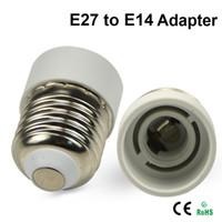 Wholesale Led Screw Small - White LED Bulb Socket Converter Socket Small Screw E27 to E12 E27 to E14 E14 to E27 E27 to B22 B22 to E26 Adapter Lamp Holder Converters