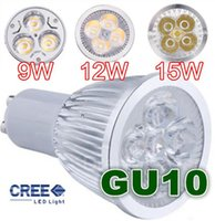 GU10 / E27 / MR16 / E14 / GU5.3 / B22 Dimmable 9W 12W 15W Led Lamp 85V-265V Spotlight Lâmpadas Led Quente / Puro / Legal CE ROHS