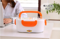 Wholesale Electric Heated Lunch Box - Hot Multifunctional Electronic Heated Lunch Box Electric Heating Insulation Boxes 50pcs Free shipping