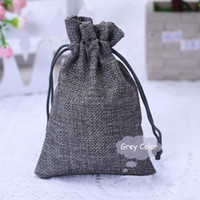 "Wholesale Drawstring Cotton Pouch - 100PCS Burlap Bags with Drawstring Gift Jute bags Included Cotton Lining Size 3.5""X4.7"" (9X12CM) JB-MIX100"