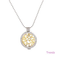 Wholesale Mi Necklace - Mi Moneda Yiwu Wholesale Open Locket Coin Holder 2016 New Necklace Pendant With Crystal Rhinestone Pendant Women Loved MID020