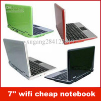 "Wholesale Cheap 4gb Laptops - Free shipping! 7'' wifi cheap notebook, NEW 7"" Mini Netbook Laptop Notebook WIFI Windows 2GB HD"