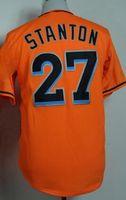 Wholesale Cheap Baseball Uniform - Discount Cheap 27 STANTON Baseball Jerseys,Various 21 YELICH Baseball Wear,discount TOP 16 FERNANDEZ Baseball Uniform TOPS,Training Wear