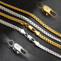 Wholesale Silver Snake Chain 5mm - 2015 Newest Fashion Jewelry 18K Yellow Gold Plated Necklace Top Quality Men Chains For Necklaces Stamped 18K & 925 Width 5MM Length 20 Inch