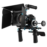 DSLR segue ferroviari asta kit rig supporto spalla manico matte box fuoco 15mm Fotga
