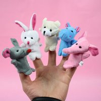 Lovely Baby Peluche Giocattolo Finger Puppets 10pcs Famiglia Teaching Talking Puntelli Giochi animali Bambola Cute Kids Placare Gioca Cartoon Scopri Story Dolls