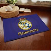 Wholesale Car Floor Mat Carpet - Real Madrid Football Team Fans Souvenir Carpet Football Team Badge Car Floor Mats Room Kids Rugs,Freeshipping