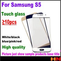 Wholesale Galaxy W Touch - 10pcs Outer Glass For Samsung Galaxy S5 G9006v w G9008v w 9009D w Front Glass Touch Screen Panel Digitizer Replacement Repair Parts