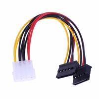 ata ide sürücüler toptan satış-Toptan Satış - 4Pin IDE 2 Seri ATA SATA Y Splitter Sabit Disk Güç Adaptörü Kablosu
